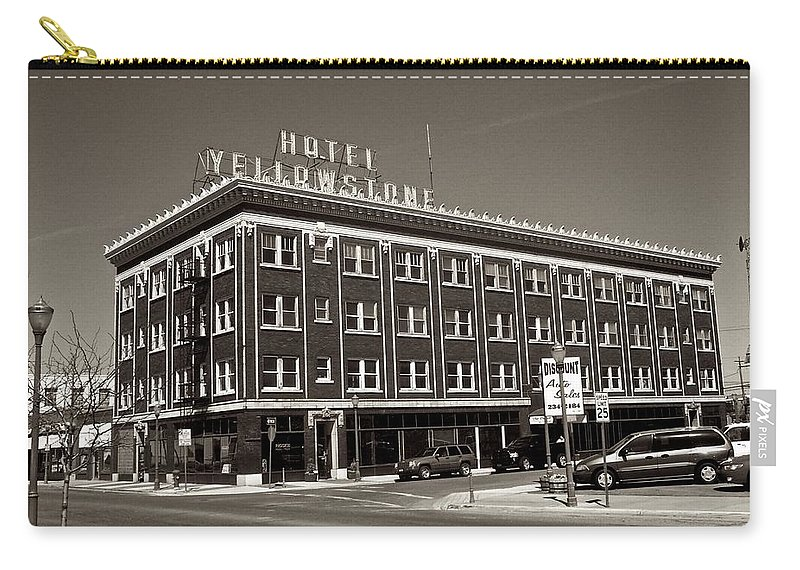 Hotel Yellowstone Carry-all Pouch featuring the photograph Hotel Yellowstone by Eric Tressler