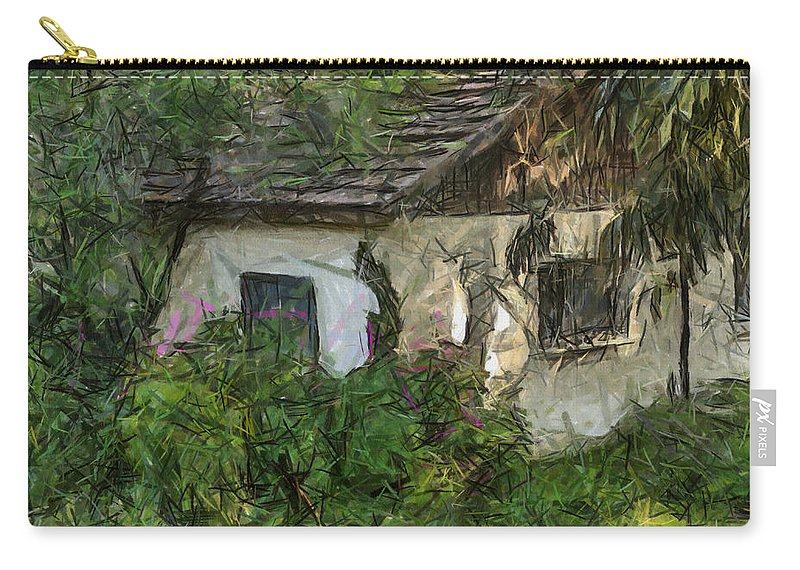 House Carry-all Pouch featuring the photograph House For Sale by Michael Goyberg