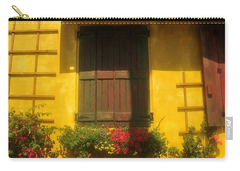 Fine Art Photography Carry-all Pouch featuring the photograph House Of Yellow by David Lee Thompson