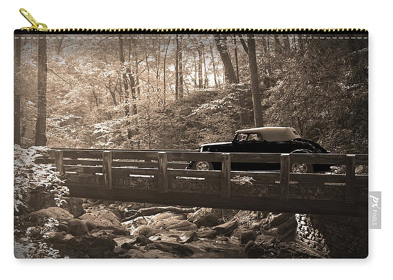 Old Car Carry-all Pouch featuring the photograph How To Tour Mountains by Randall Branham