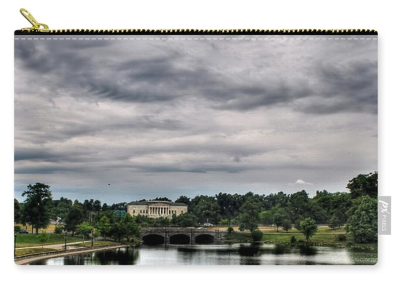 Carry-all Pouch featuring the photograph Hoyt Lake Delaware Park 0003 by Michael Frank Jr