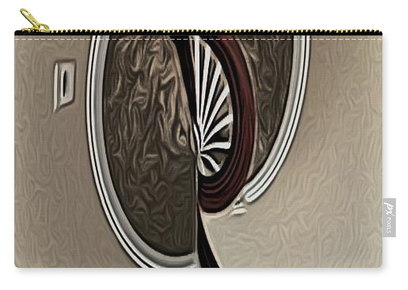 Abstract Carry-all Pouch featuring the digital art H's Stair by Ron Bissett