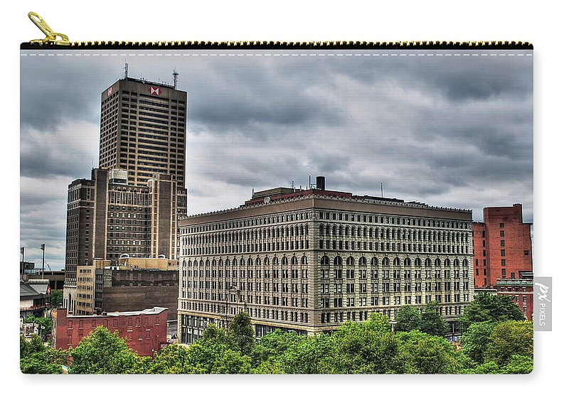 Carry-all Pouch featuring the photograph Hsbc Tower  Ellicott Square Buliding by Michael Frank Jr