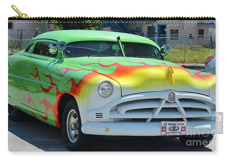 Car Carry-all Pouch featuring the photograph Hudson Low Rider Roadster by Rene Triay Photography