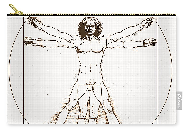 Body Movement Carry-all Pouch featuring the photograph Human Body By Da Vinci by Omikron