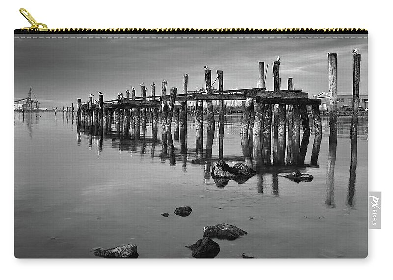 Pylons Carry-all Pouch featuring the photograph Humboldt Bay Ruins by Greg Nyquist