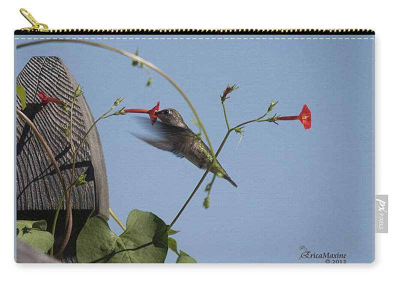 Tn Carry-all Pouch featuring the photograph Hummer by Ericamaxine Price