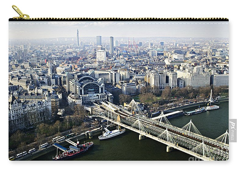 Hungerford Carry-all Pouch featuring the photograph Hungerford Bridge Seen From London Eye by Elena Elisseeva
