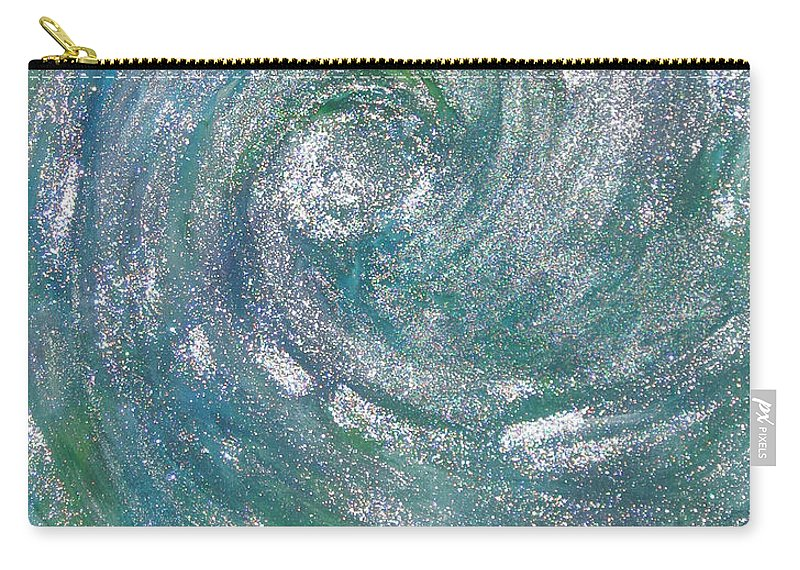 Hurricane Carry-all Pouch featuring the painting Hurricane Of Light by Leanne Karlstrom