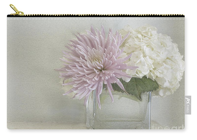 Hydrangea Carry-all Pouch featuring the photograph Hydrangea And Mum by Cindy Garber Iverson