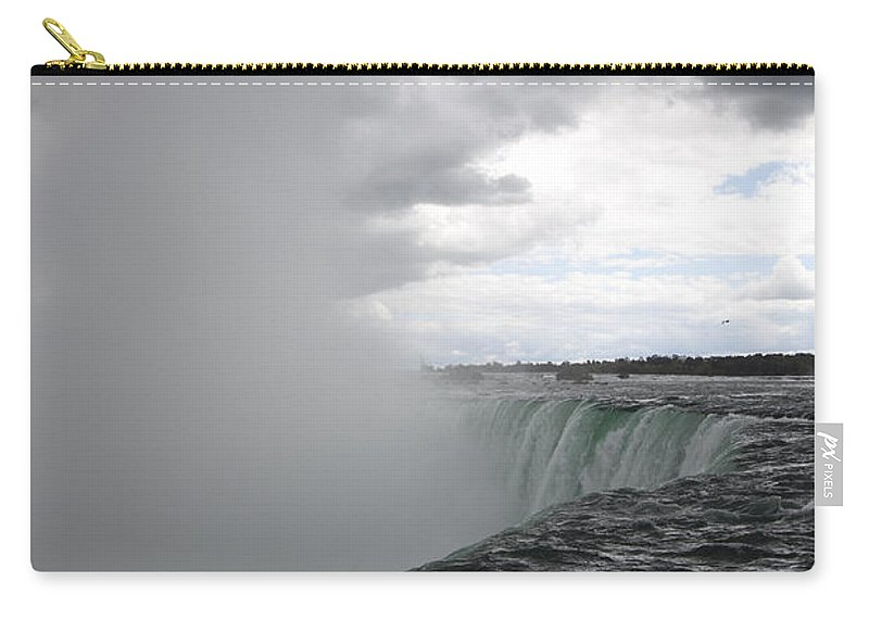 Niagara Falls Carry-all Pouch featuring the photograph Hydro by Amanda Barcon
