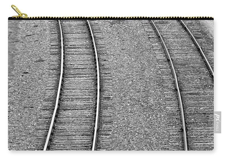Railroad Carry-all Pouch featuring the photograph I Curve To The Left by Mark Dodd