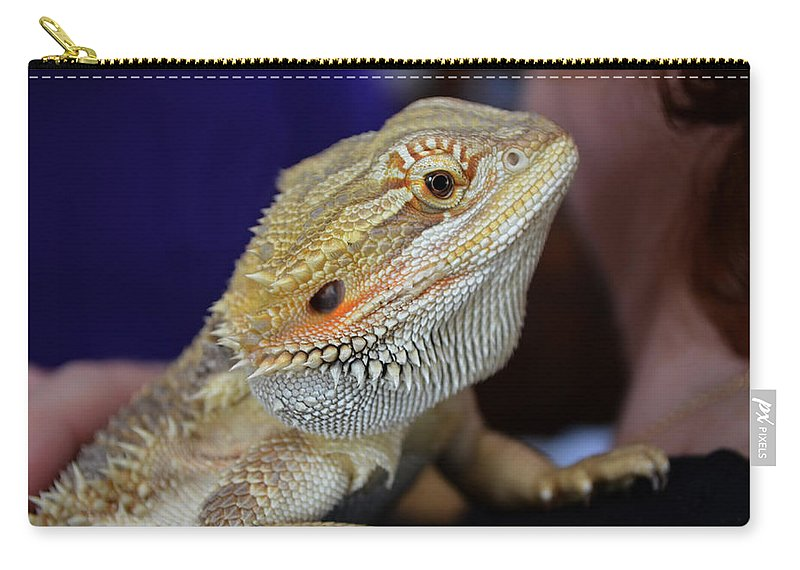 Digital Carry-all Pouch featuring the photograph I Don't Bite Honest by Richard Ortolano