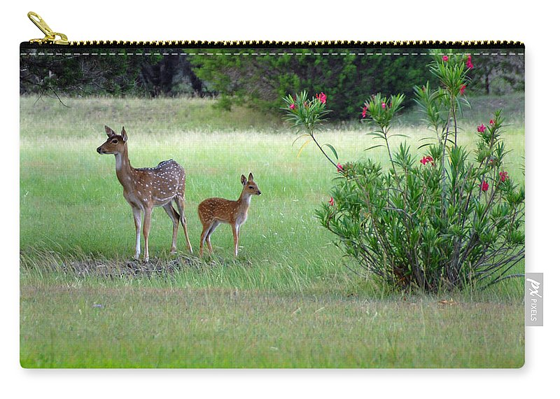 Deer Carry-all Pouch featuring the photograph I Got Your Back by Lynn Bauer