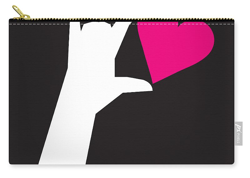 I Love You Carry-all Pouch featuring the digital art I Love You Sign by Tim Nyberg