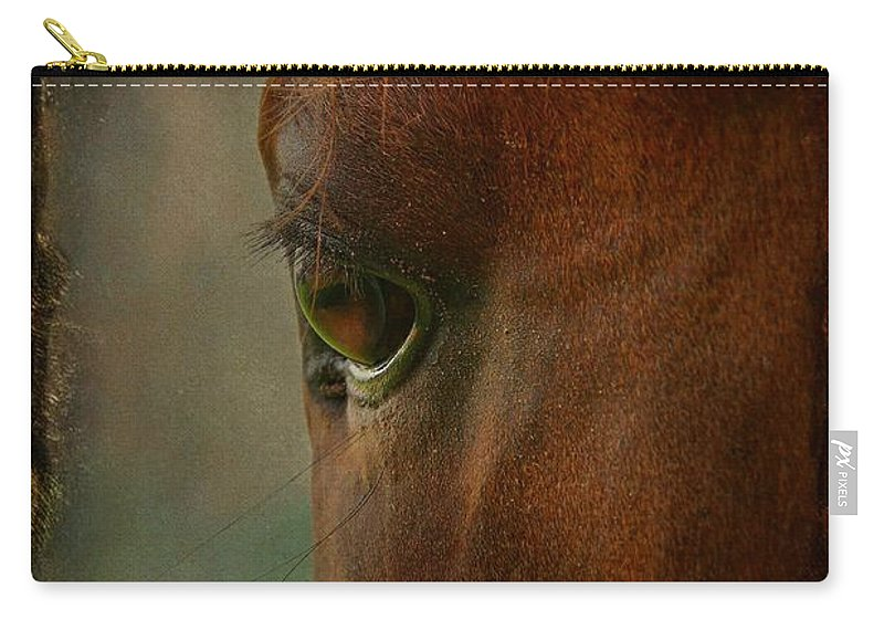 Animal Carry-all Pouch featuring the photograph I See You by Davandra Cribbie