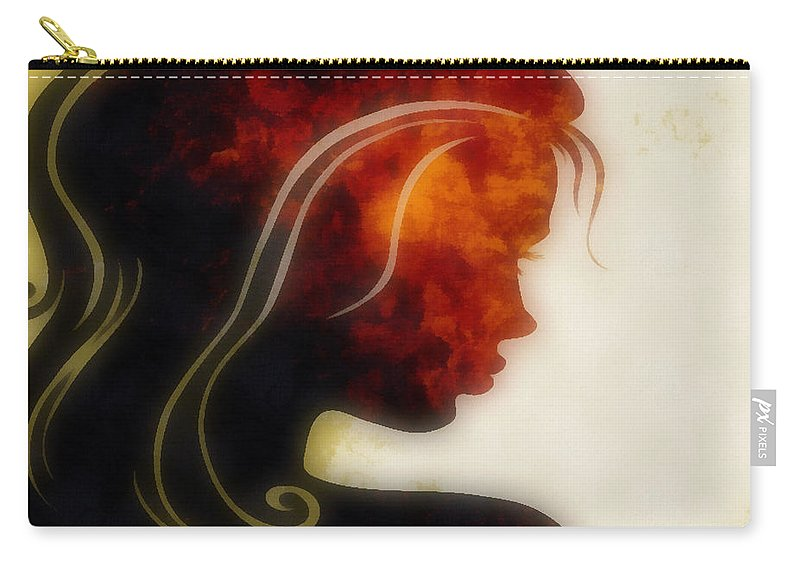 Wonder Carry-all Pouch featuring the digital art I Walked Away 1 by Angelina Vick