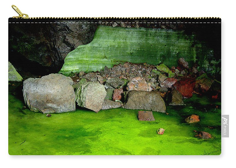 Photograph Carry-all Pouch featuring the photograph Ice Cave by Vicki Pelham
