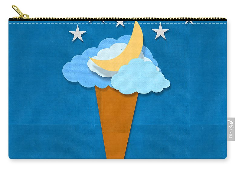 Antique Carry-all Pouch featuring the digital art Ice Cream Design On Hand Made Paper by Setsiri Silapasuwanchai
