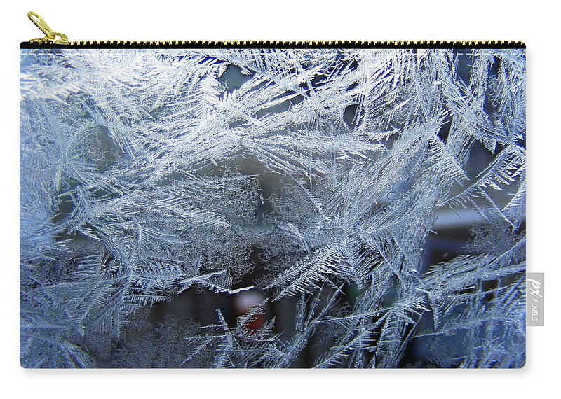 Window Ice Carry-all Pouch featuring the photograph Ice Is Nice by Duane McCullough
