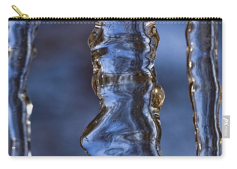 Nature Carry-all Pouch featuring the photograph Icicles by Heiko Koehrer-Wagner