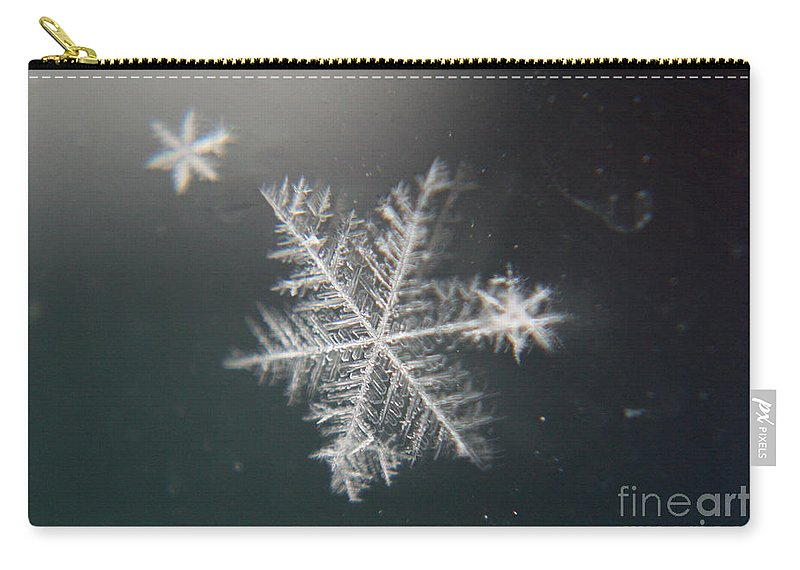 Snowflakes Carry-all Pouch featuring the photograph Icy by Heather Applegate