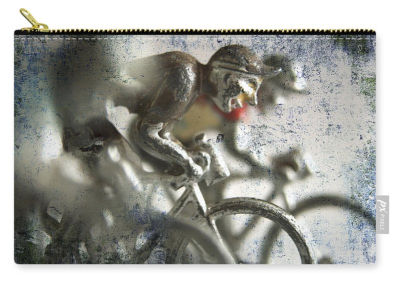 Bicycle Carry-all Pouch featuring the photograph Illustration Of Cyclists by Bernard Jaubert