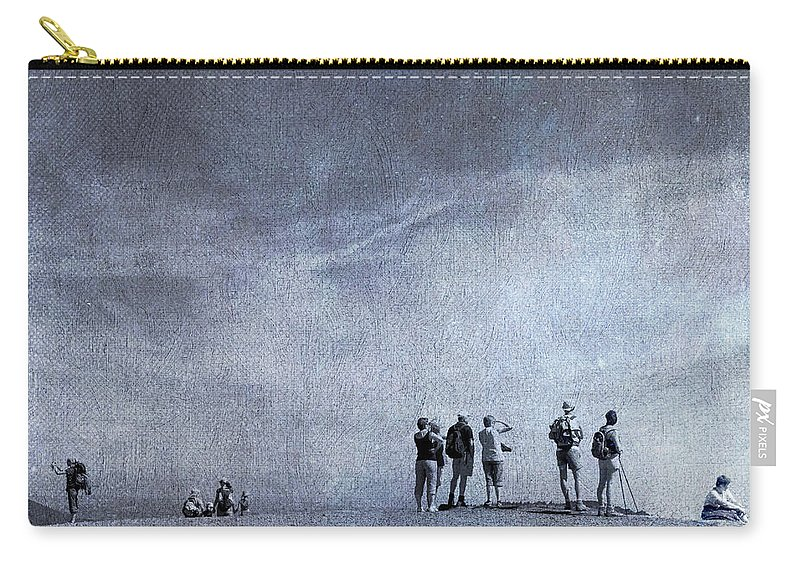 Beaches Carry-all Pouch featuring the photograph Illustration Of Tourist On Holiday by Bernard Jaubert