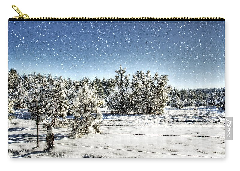 Winter Carry-all Pouch featuring the photograph I'm Dreaming Of A White Christmas by Saija Lehtonen
