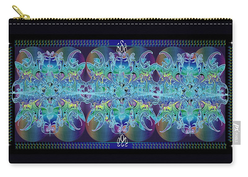 Abstract Carry-all Pouch featuring the digital art Imagine Trio by George Pasini