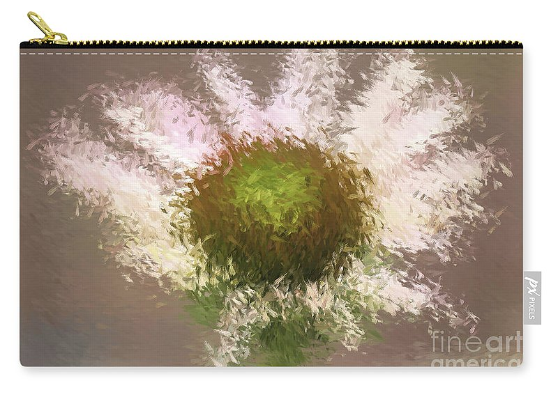 Flower Carry-all Pouch featuring the digital art Impressionistic Echinacea by Deborah Benoit