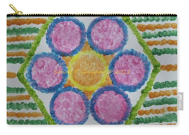 Circle Sequence Carry-all Pouch featuring the painting Imprint Of Mind by Sonali Gangane