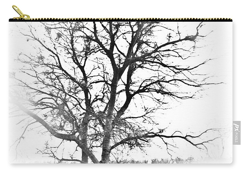 Tree Carry-all Pouch featuring the photograph In Black And White by Kim Henderson