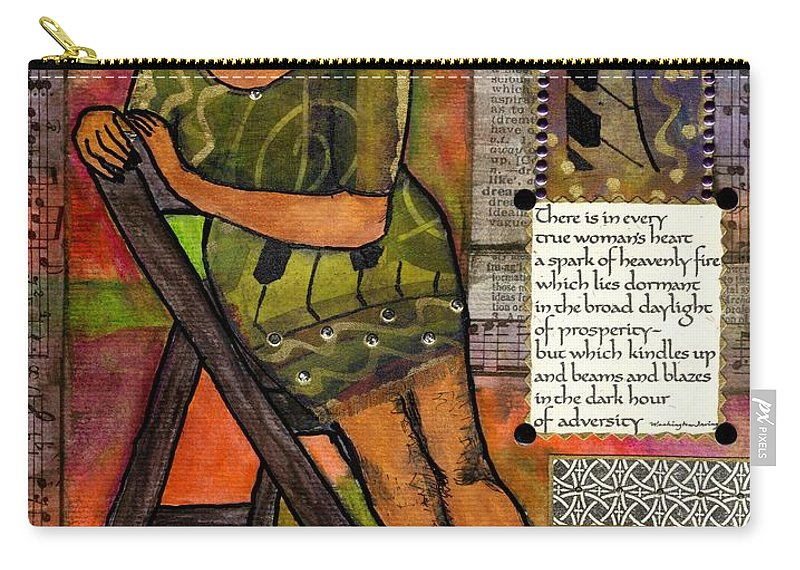 Woman Carry-all Pouch featuring the mixed media In Every True Woman by Angela L Walker