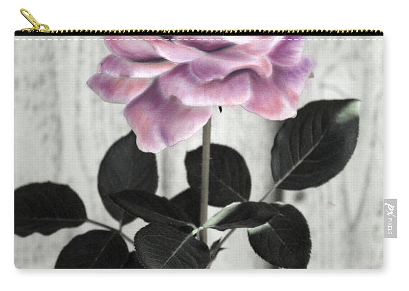 Florals Carry-all Pouch featuring the photograph In Her Garden by Linda Dunn