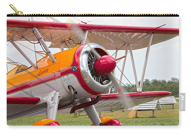 Airplane Carry-all Pouch featuring the photograph In Plane View by Betsy Knapp