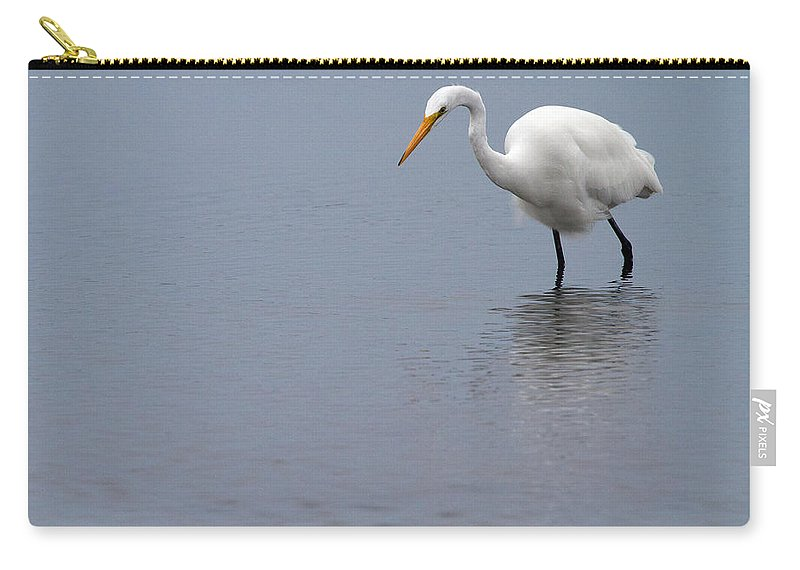 Egret Carry-all Pouch featuring the photograph In Search Of by Karol Livote