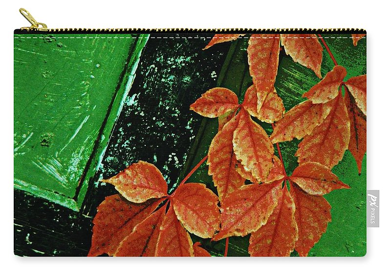 Rustic Carry-all Pouch featuring the photograph In The Alley by Chris Berry