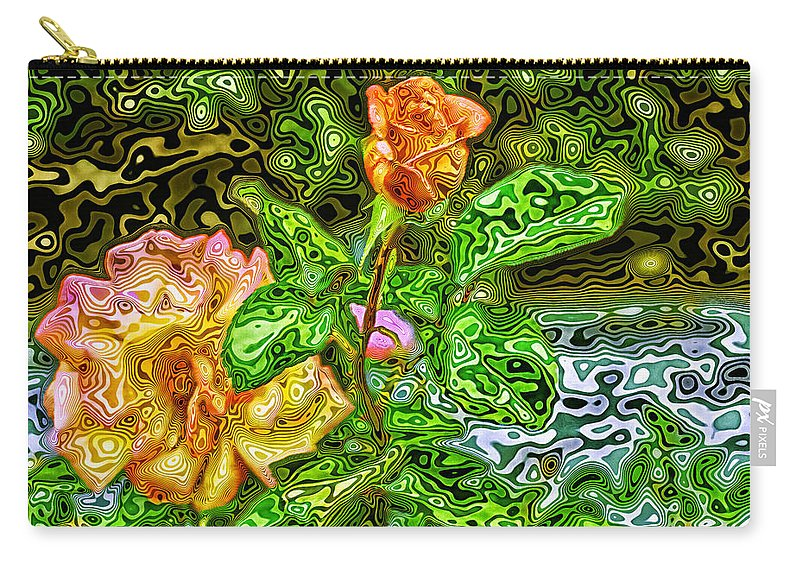 Flowers Carry-all Pouch featuring the photograph In The Garden Of Dreams by Madeline Ellis