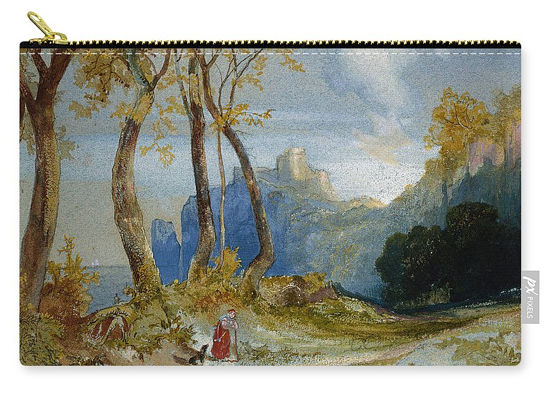 Thomas Moran Carry-all Pouch featuring the painting In The Hills by Thomas Moran