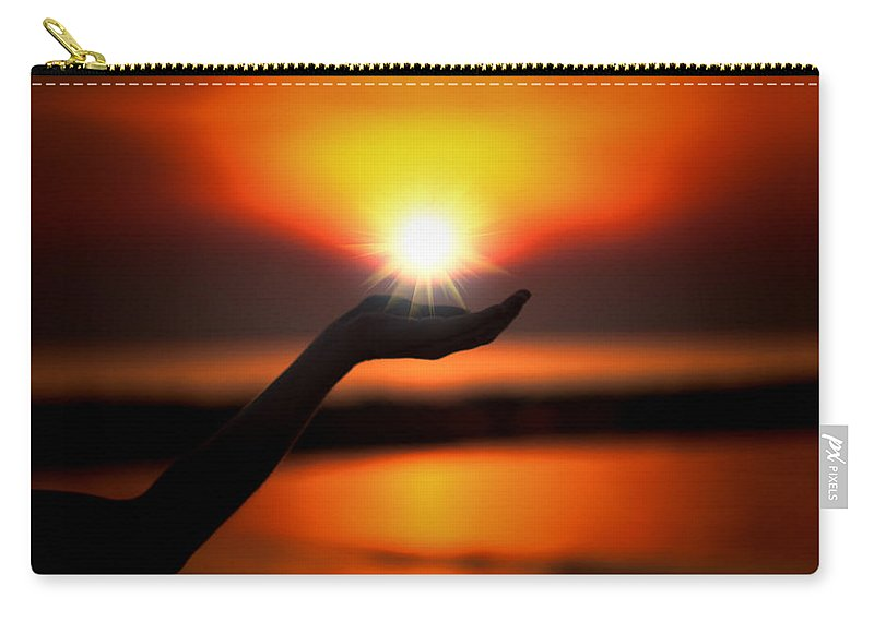 Sunset Carry-all Pouch featuring the photograph In The Palm Of My Hand by Douglas Barnard