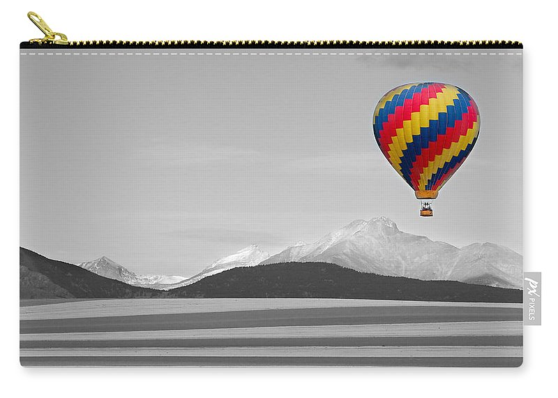 'hot Air Balloon' Carry-all Pouch featuring the photograph In Their Own World Colorado Ballooning by James BO Insogna