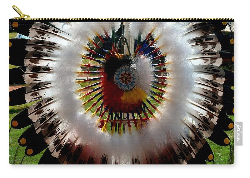 Indian Carry-all Pouch featuring the photograph Indian Bustle by Maria Urso