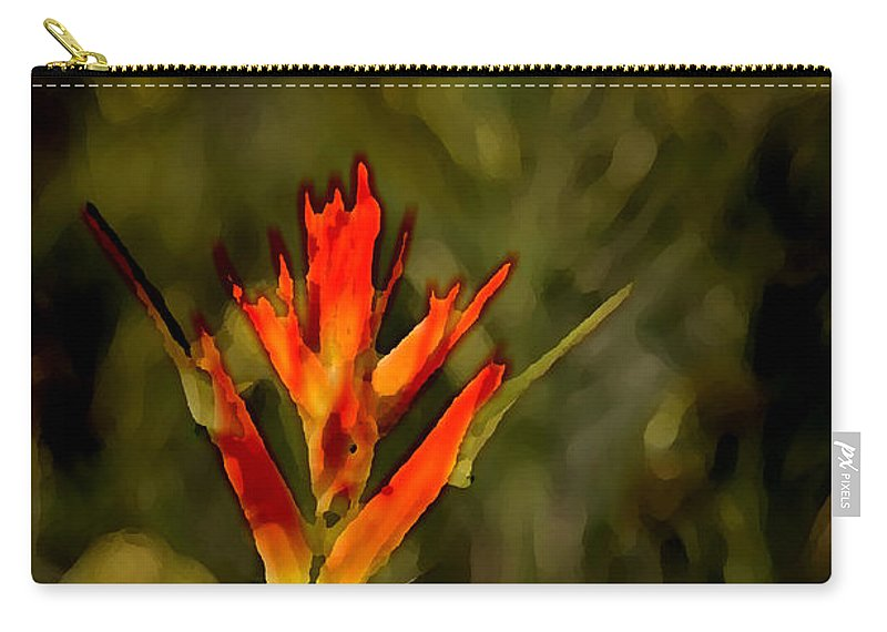 Photo Art Carry-all Pouch featuring the photograph Indian Paintbrush by Vicki Pelham