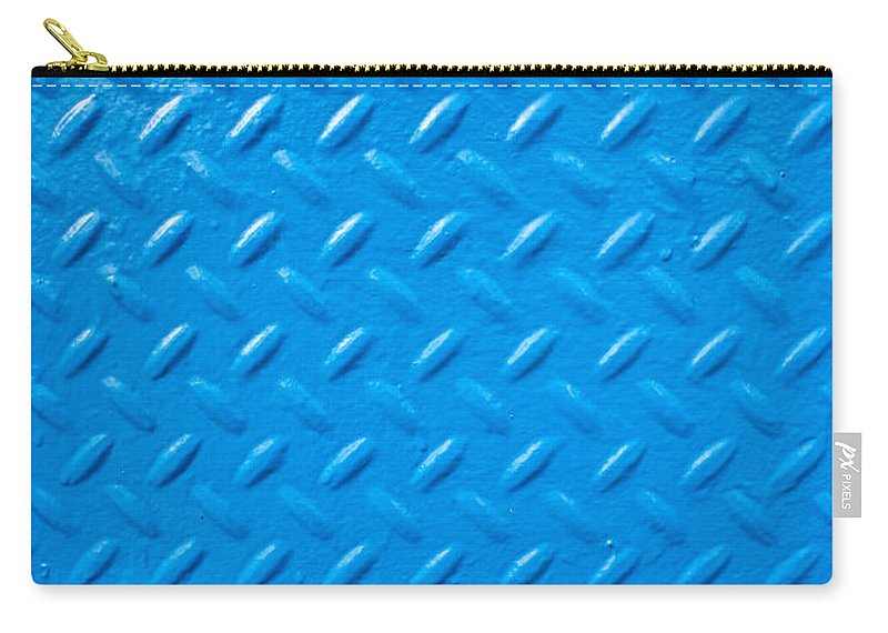 Blue Carry-all Pouch featuring the photograph Industrial Metal by Tom Gowanlock