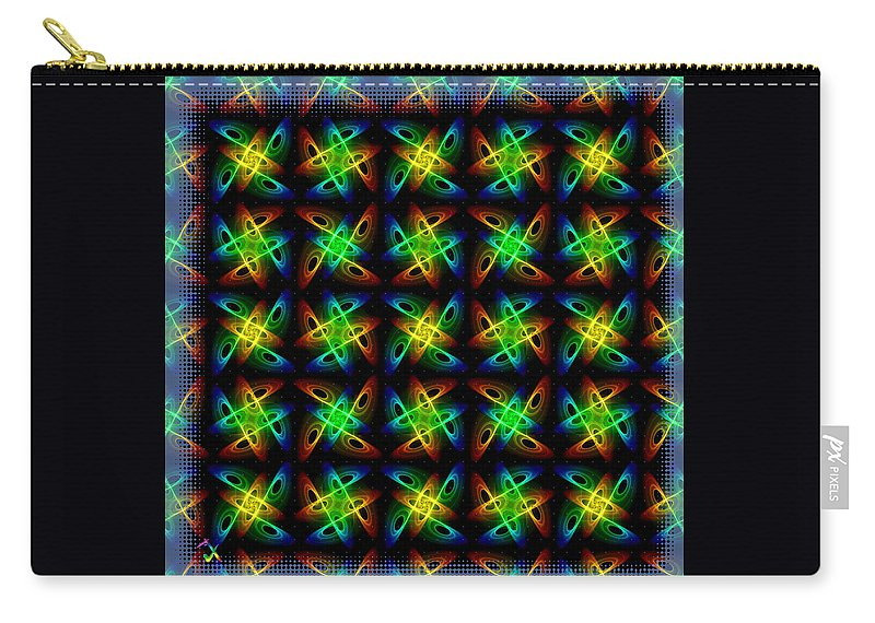Colors Carry-all Pouch featuring the digital art Infinity by Adam Vance