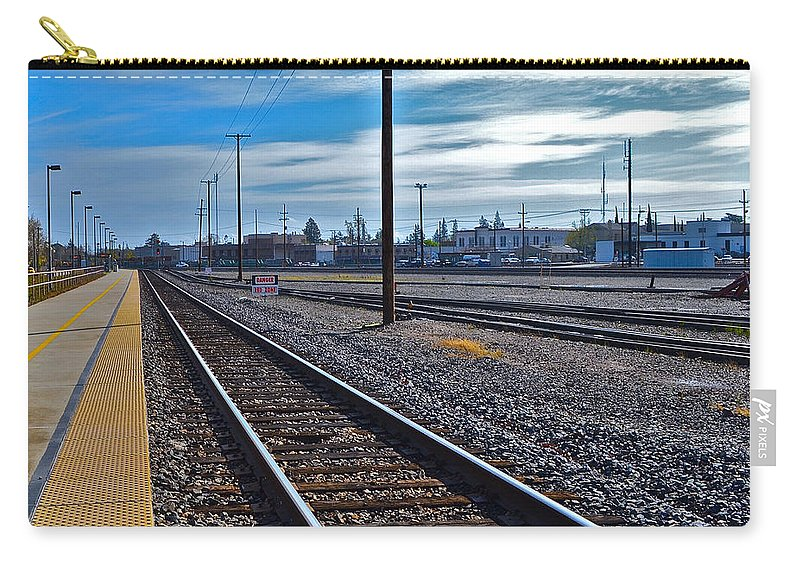 Railroad Carry-all Pouch featuring the photograph Infinity by Bill Owen
