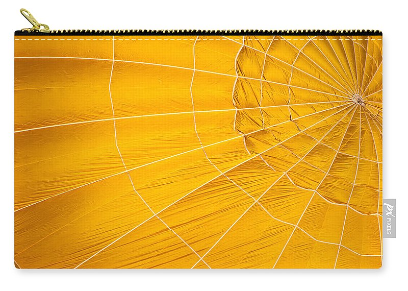 Hot Carry-all Pouch featuring the photograph Inflating Folds Of Yellow by Colleen Coccia