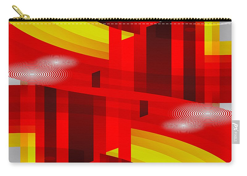 Information Superhighway Carry-all Pouch featuring the digital art Information Superhighway by Angelina Vick