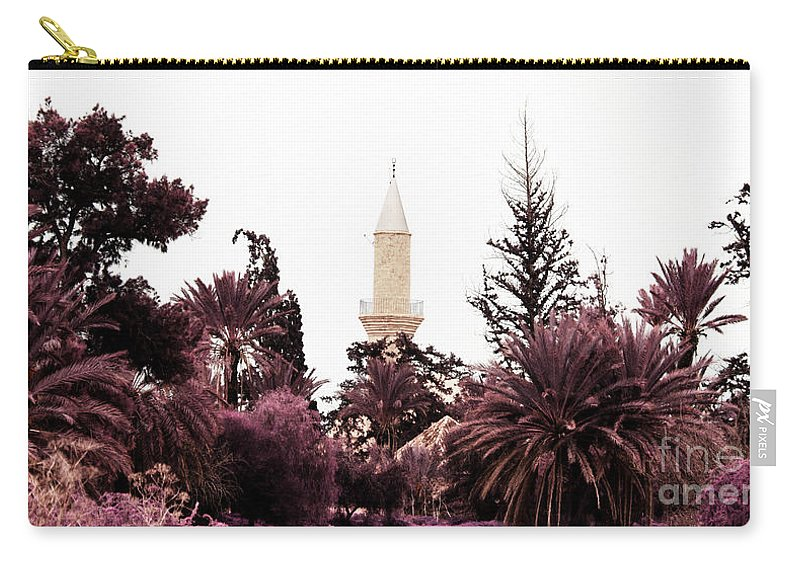 Arab Carry-all Pouch featuring the photograph infrared Hala Sultan Tekke by Stelios Kleanthous